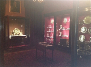 photo of part of Dunham Massey's silver collection