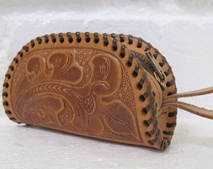 photo of tooled-leather coin purse