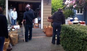 photo of outdoor garage sale