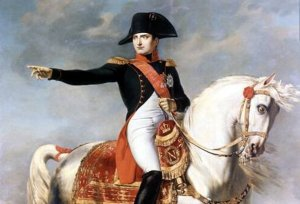 painting of Napoleon Bonaparte on horse